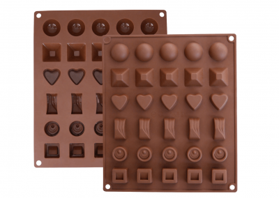 Chocolate Molds on a Tray